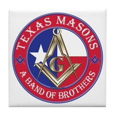 Texas Brothers Tile Coaster