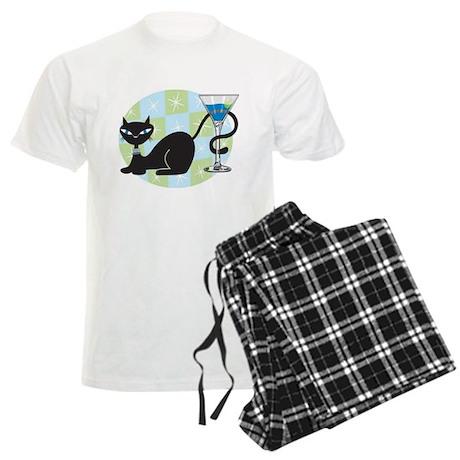 Cocktail Kitty Men's Light Pajamas