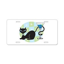 Cocktail Kitty Aluminum License Plate