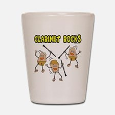 Clarinet Rocks Shot Glass