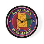The Alabama Freemason Wall Clock