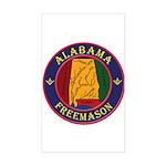 The Alabama Freemason Sticker (Rectangle)