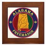 The Alabama Freemason Framed Tile