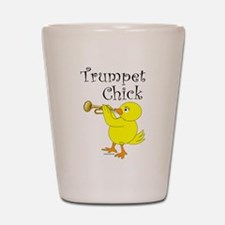 Trumpet Chick Shot Glass