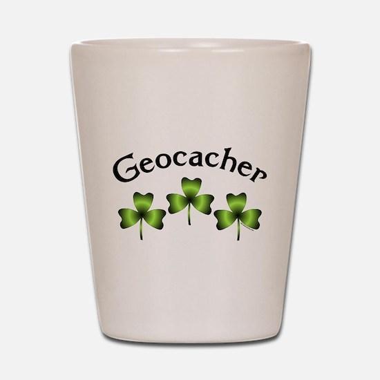 Geocacher 3 Shamrocks Shot Glass