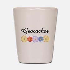 Geocacher Asters Shot Glass
