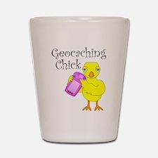 Geocaching Chick Shot Glass