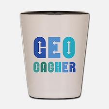 Geocacher Arrows Blue Shot Glass