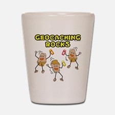 Geocaching Rocks Shot Glass