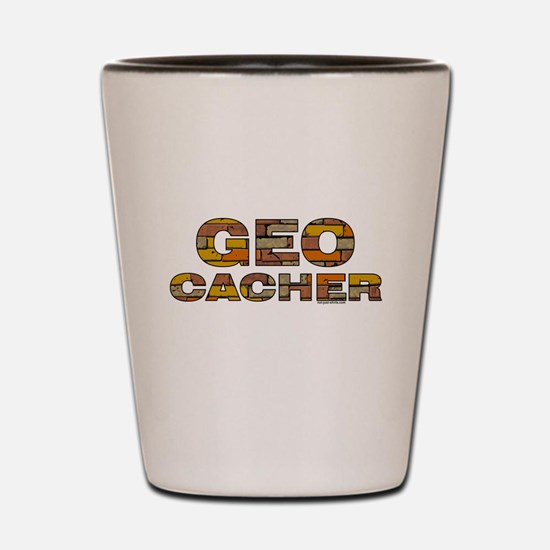 Geocacher Bricks Shot Glass