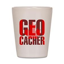 Canadian Geocacher Shot Glass