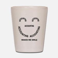 Accounting Smile Shot Glass