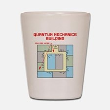 Quantum Mechanics Building Shot Glass