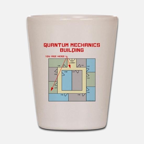 Quantum Mechanics Building Shot Glass