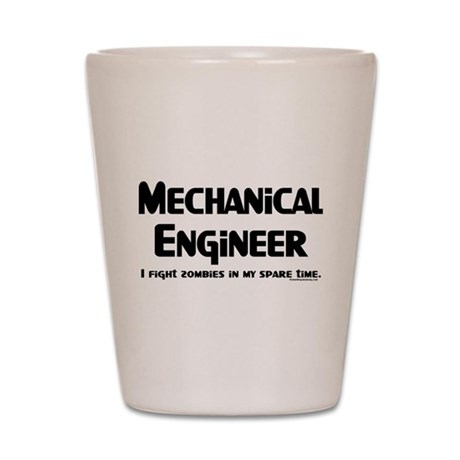 Mechanical Engineer Zombie Fighter Shot Glass