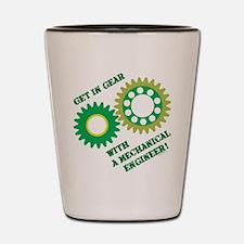 Green Get In Gear Shot Glass