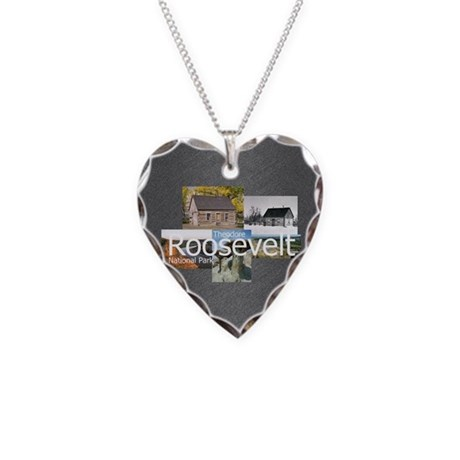 ABH Theodore Roosevelt NP Necklace Heart Charm
