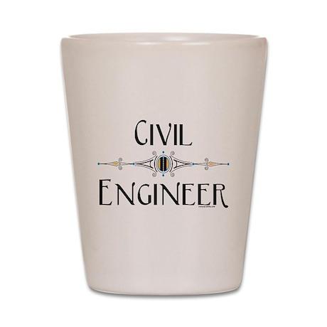 Civil Engineer Line Shot Glass