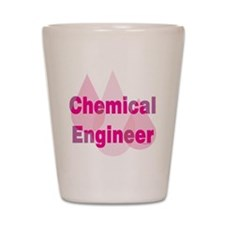 Pink Chemical Engineer Shot Glass