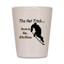 The Hat Trick Shot Glass