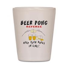 Beer Pong Referee Shot Glass