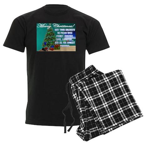 Hockey Christmas Cards & Gift Men's Dark Pajam