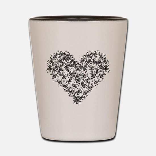 Black Ants Heart Shot Glass