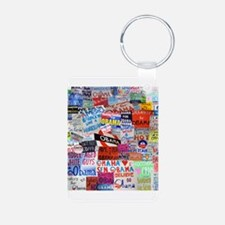 Obama Sign Collage Keychains