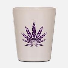Purple Leaf Shot Glass