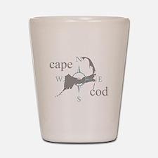Cape Cod Compass Shot Glass