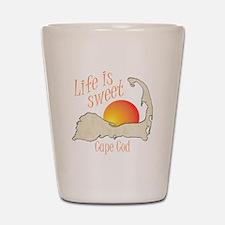 Life is Sweet Cape Cod Shot Glass
