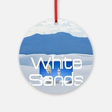 ABH White Sands Round Ornament