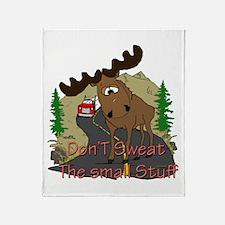 Moose humor Throw Blanket