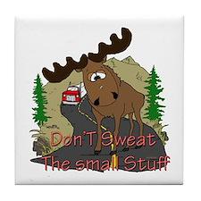 Moose humor Tile Coaster