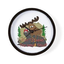 Moose humor Wall Clock