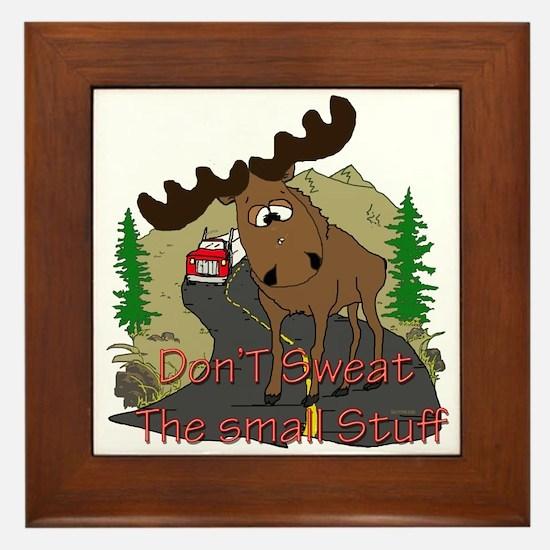 Moose humor Framed Tile
