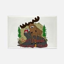 Moose humor Rectangle Magnet
