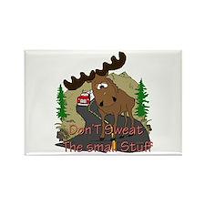Moose humor Rectangle Magnet (10 pack)