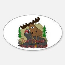 Moose humor Sticker (Oval)