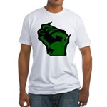 Wisconsin Protest Raised Fist Fitted T-Shirt