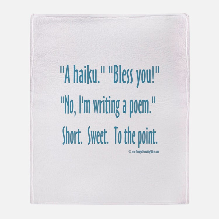 Sneeze: A Funny Haiku Throw Blanket