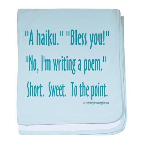 Sneeze: A Funny Haiku baby blanket