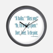 Sneeze: A Funny Haiku Wall Clock