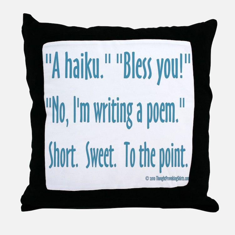 Sneeze: A Funny Haiku Throw Pillow