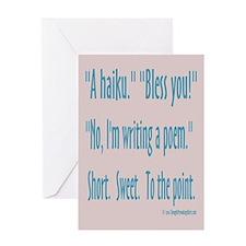 Sneeze: A Funny Haiku Greeting Card