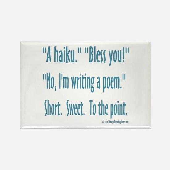 Sneeze: A Funny Haiku Rectangle Magnet