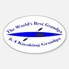 World's Best Grandpa Sticker (Oval)