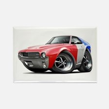 1968-69 AMX Red-White-Blue Rectangle Magnet