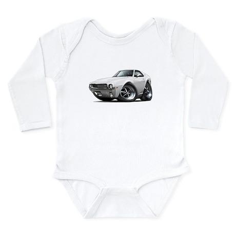 1968-69 AMX White Car Long Sleeve Infant Bodysuit