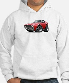 1968-69 AMX Red-White Car Hoodie